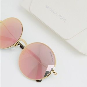 Michael Kors rose-gold round sunglasses